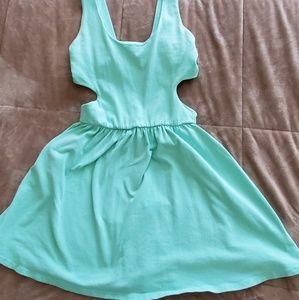 Turquoise L.A. Hearts Back Cutout Dress